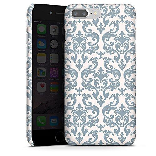 Apple iPhone X Silikon Hülle Case Schutzhülle Retro Muster Blumen Premium Case glänzend
