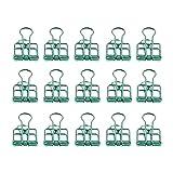 Zoohot Kreativ Hohl foldback klemmen Grün Lange Schwanzklammer, 15 Stück