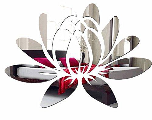Großer Wandspiegel Acryl Decor Wasser Lily 35 x 50 cm, 3 mm Stärke, unzerbrechlich, Wohnzimmer, Schlafzimmer, Kinderzimmer
