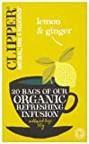 Product Image of Clipper Organic Lemon & Ginger 20 Tea Bags (Pack of 6)