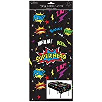 Home Collection 1 Oblong Plastic Children's Party Tablecloth Table Cover 120x180 Boy's Superhero