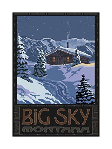 Northwest Art Mall pal-0142l WMC Big Sky Montana Winter Mountain Cabin Artwork von Paul A. lanquist, 18von 24