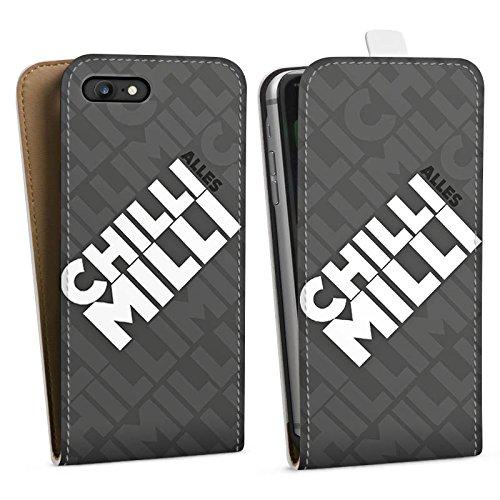 Apple iPhone X Silikon Hülle Case Schutzhülle LPmitKev Fanartikel Merchandise Alles Chilli Milli Grau Downflip Tasche weiß