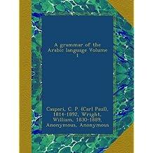A grammar of the Arabic language Volume 1