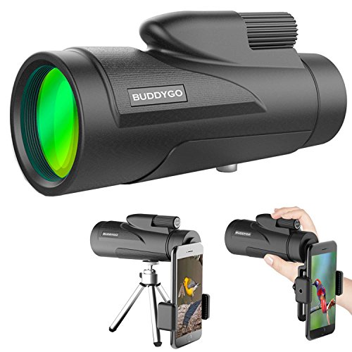 Telescopio Monocular, BUDDYGO 12 x 50 HD Spotting Scope Catalejo Monoculares con...