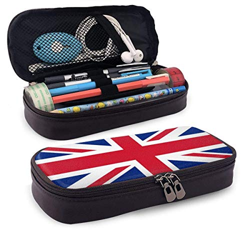 Union Jack Flag Pencil Case Pouch Large Capacity Pen Bag Double Zippers Multifunction Makeup Bag Stationery Bag Cosmetic Bag with Compartments