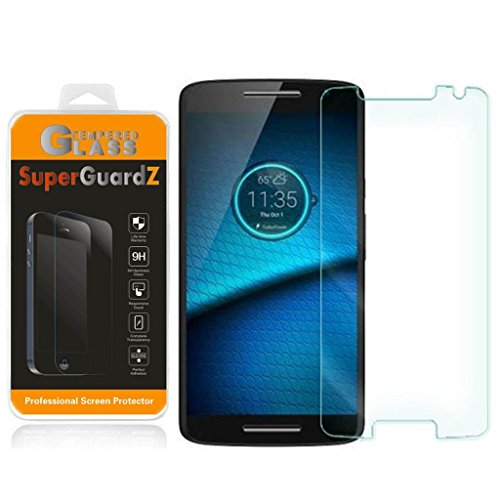 [2er Pack] für Motorola Droid Maxx 2 (2015 Release, für Verizon) - superguardz Tempered Glas Displayschutzfolie, 9H, 0,3 mm, 2.5D Round Edge, Kratzfest, blasenfrei - Verizon Pack