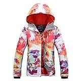 APTRO Damen Skijacke warm Jacke gefüttert Winter Jacke Regenjacke Weiß 9514 L