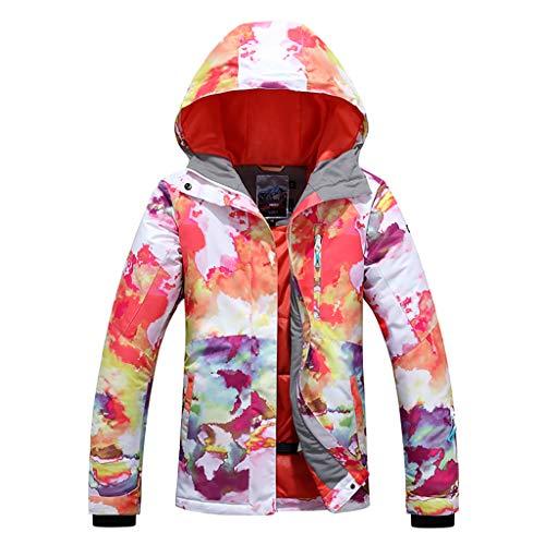 APTRO Damen Skijacke warm Jacke gefüttert Winter Jacke Regenjacke Weiß 9514 S