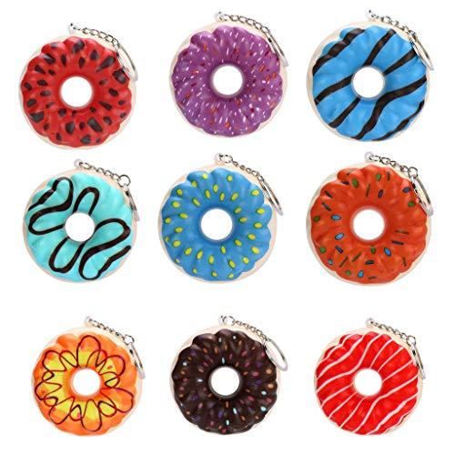 CHshe®--Squishy Spielzeug, 9x Donuts Squishies Packung Anti-Druck-Helfer-Pressung-Spielzeug Kawaii Anti-Stress-Weiche Langsam Rising Duft Spielzeug-Geschenk für Kinder, Erwachsene (Lot Disney-charme)