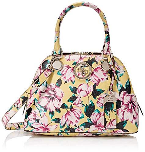 Guess Damen Floral Small Satchel Landon Kleine Dome Umhängetasche mit Blumenmuster, Multi, Einheitsgröße Floral Dome
