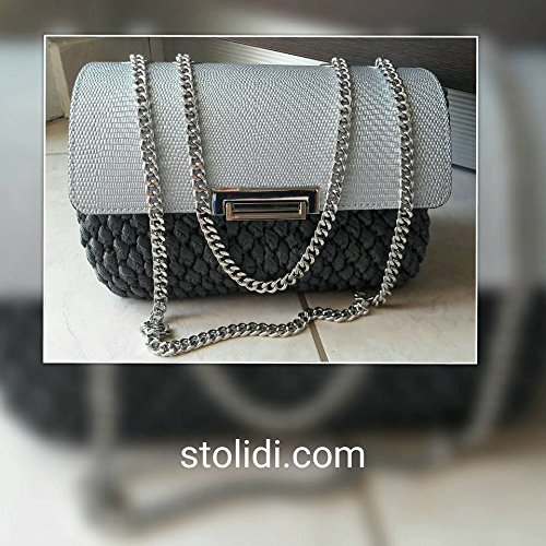 luxury-channel-handbag-handmade-Knitted-grey