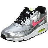 Nike - Air Max 90 FB GS - Color: Plateado-Rosa - Size: 37.5