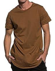 Sixth June - Tshirt biker oversize camel pour homme
