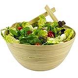 OrganicMe Salatschüssel aus Bambus mit Servierteile