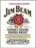 RKO Jim Beam Kentucky gerade Bourbon whisky. Flasche Label mit Briefmarke gedränk Whiskey Flasche für Pub Bar, Haus, Haus oder Küche Metall/Stahl Wand Zeichen - 9 x 6.5 cm (Magnet)