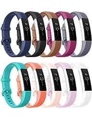 Tobfit Armband für Fitbit Alta HR Armband, Alta Armband Verstellbar Weich Ersatz Armbänder für Fitbit Alta HR und Fitbit Alta (Keine Uhr)