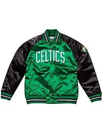 Mitchell   Ness Boston Celtics NBA HWC Tough Season Satin Jacket Bomber  College Jacke b6069d7a1c27