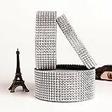 Combinazione pacchetti strass diamante per la decorazione della casa festa di nozze fai da te cristallo nastri
