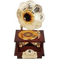 Schöne Retro Spieluhr Grammophone Grammofon Musik Melodie Spieldose Schallplatte Modern (ab 1970)