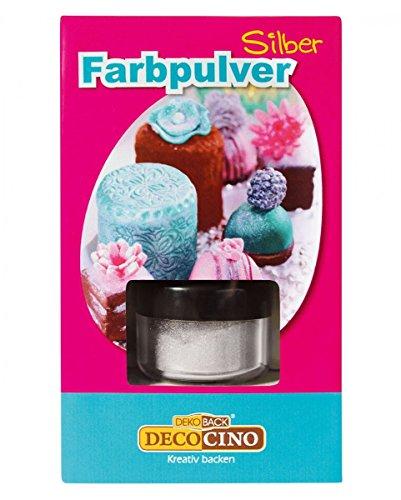 Horror-Shop Silbernes Farbpulver zum verzieren von edlen Lebensmitteln (Buttercreme Am Mit Besten)