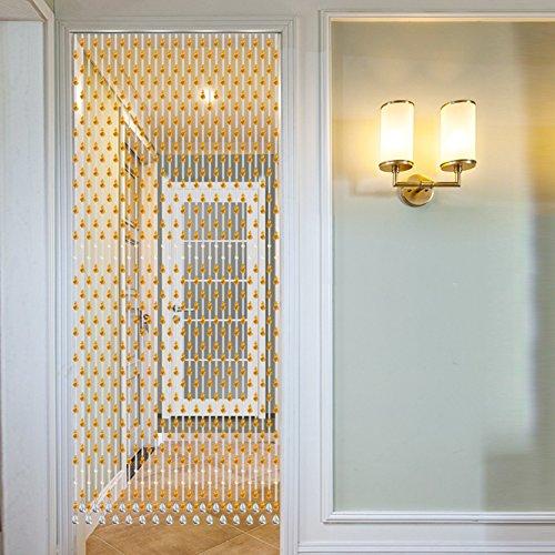 ZYCLSSRV Glas kristall perlen kettenvorhang,Dekorative tür zeichenfolge Vorhang perlen-B 1.55m