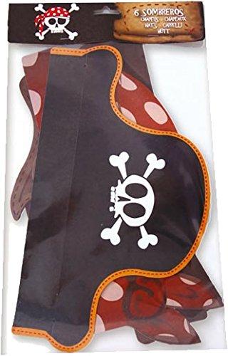 6x Piraten-Hut für Kindergeburtstag oder Mottoparty // CONO // Party Kinderparty Pirat Pirates - 2