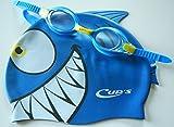 CUPS Kinder Schwimm Set Meteor Character von Head, Schwimmbrille und Badekappe blue, One size, 451022