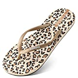 Hausschuhe WYQLZ Frauen Flip-Flops Persönlichkeit Mode Sommer Rutschfeste Outdoor-Strand Casual Sandalen Klippzehe Flache Schuhe Trend Dicke Soft Bottom (Farbe : Leopard Print, größe : 38 EU)