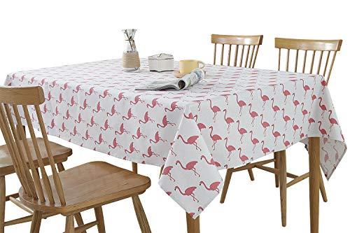 Bedruckte Tischdecke Home Küche Tischdecke Tischdecke Tischdecke Dekor Tischdecke Tischdecke für Buffet Tisch Party Urlaub Picknick, Flamingo, 55 * 70 ()