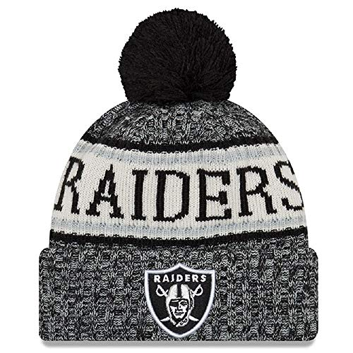 New Era American Football NFL Teamsport Winter Strickmütze Unisex Beanie Mütze, Oakland Raiders 6848, OSFM Unisex Winter-beanie
