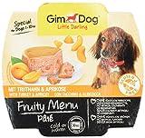 GimDog Futter – Little Darling Fruity Menu Paté mit Truthahn und Aprikose – Für Hunde bis 10 kg – Glutenfrei – Hundefutter ohne künstliche Aromen & Farbstoffe – Hundenassfutter 800g (8 x 100g)