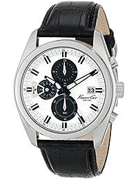 Kenneth Cole New York pour homme Kc8041Dress Sport ronde chronographe Noir Sangle montre analogique par Kenneth Cole New York (Reconditionné Certifié)