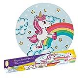 Tortendecke Einhorn   Unicorn   Rainbow   Stars   Cloud   aus Dekormasse