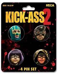 Kick Ass 2 Character Faces 4 Pin Set
