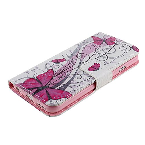 EMAXELERS Glitzer Bling Schmetterling Mädchen iPhone SE Hülle Leder,iPhone SE 5S Ledertasche Brieftasche Handyhülle im BookStyle,iPhone 5S Hülle Flip Case für Mädchen,Lederhülle iPhone 5 / 5S PU Leder G Butterfly 2