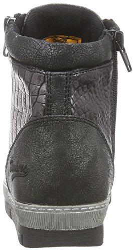 Dockers - 35ne215-686155, Sneaker alte Donna Nero (Schwarz (schwarz/silber 155))