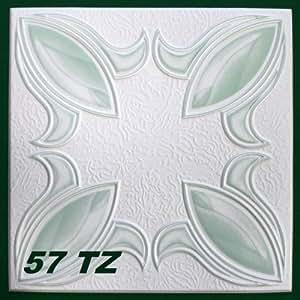 20m² Plaques de plafond Plaques de polystyrène Stuc Plaques 50x 50cm, N ° 57TZ colorées
