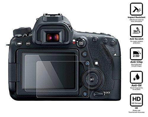 Galleria fotografica BlueBeach® 2 Pezzi HD Pellicola Protettiva Canon EOS 6D MARK II DSLR Temperato di Protezione in Vetro Dello Schermo Schermo Protezione (0.3mm 2.5D 9H Durezza)