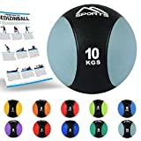 Medizinball 1 – 10 kg – Professionelle Studio-Qualität inkl. Übungsposter Gymnastikbälle