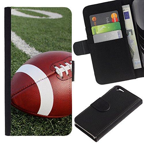 Graphic4You Amerikaner Fußball Football Sport Design Brieftasche Leder Hülle Case Schutzhülle für Apple iPhone 6 / 6S Design #1