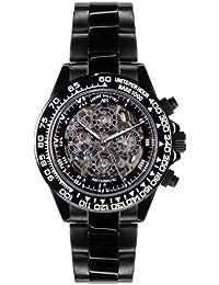 André Belfort 410166 - Reloj para hombres, correa de acero inoxidable color negro