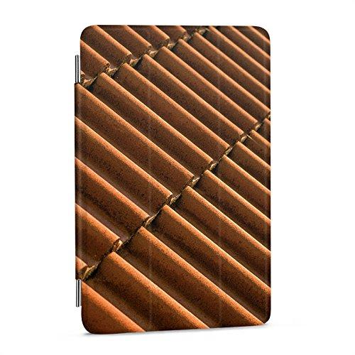 apple-ipad-mini-4-hlle-flip-case-schutz-smart-cover-dachziegel-ziegel-look-muster