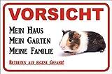 AdriLeo Schild - Vorsicht Meerschweinchen - Mein Haus - (15x20cm)