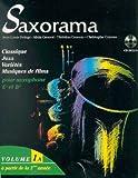 partition saxorama saxophone eb mi b?mol et bb si b?mol volume 1a partition cd