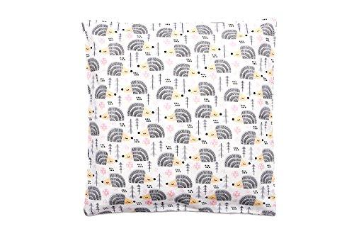 Kinder Kissenbezug 40 x 40 cm, 100 Baumwolle, mit Reißverschluss, Kissen Bezug Öko-Tex Standard, ideal als Bezug für Dekokissen, Sitzkissen oder Kopfkissen