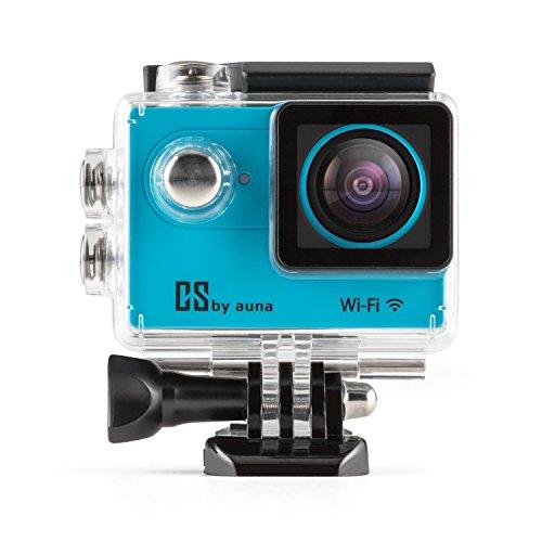 auna ProExtrem Plus Action-Kamera 4K 12MP Action Cam Sport-Kamera Wasserdicht inkl. Umfangreiches Zubehör (WiFi, 120fps, HDMI, Akku, USB & SD Slot, Unterwassergehäuse, fernsteuerbar via iSmart DV App über iOS und Andriod-Geräte) Blau
