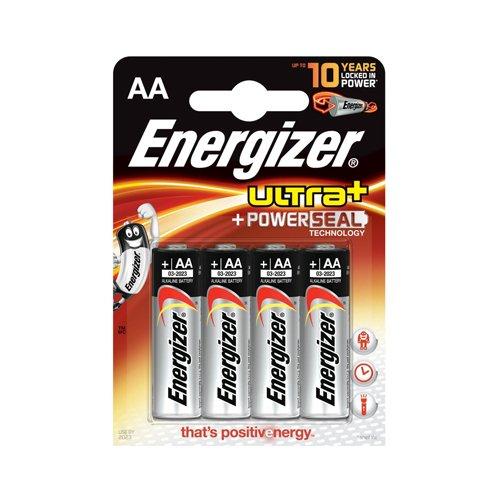 Energizer ENULTRAAP4 Alkaline AA/LR6 Ultra+ Akku (4-er Blister)