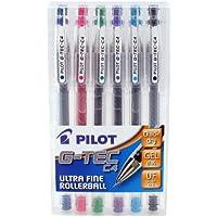 Pilot Pen G-Tec - Bolígrafos roller (6 unidades), varios colores
