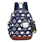 FRISTONE Niedlich Tier Hase Baby Rucksack Kinderrucksack Kleinkind Mädchen Kindergartenrucksack Backpack mit Sicherheit Geschirre Zügel,Dunkelblau